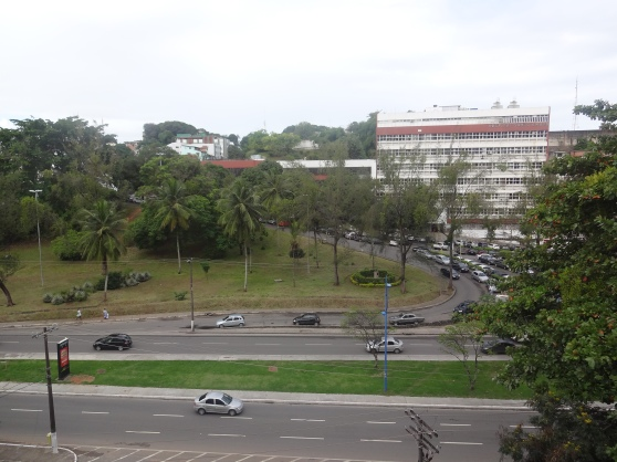View from my window of Hospital Santo Amaro (key direction point for taxi drivers)
