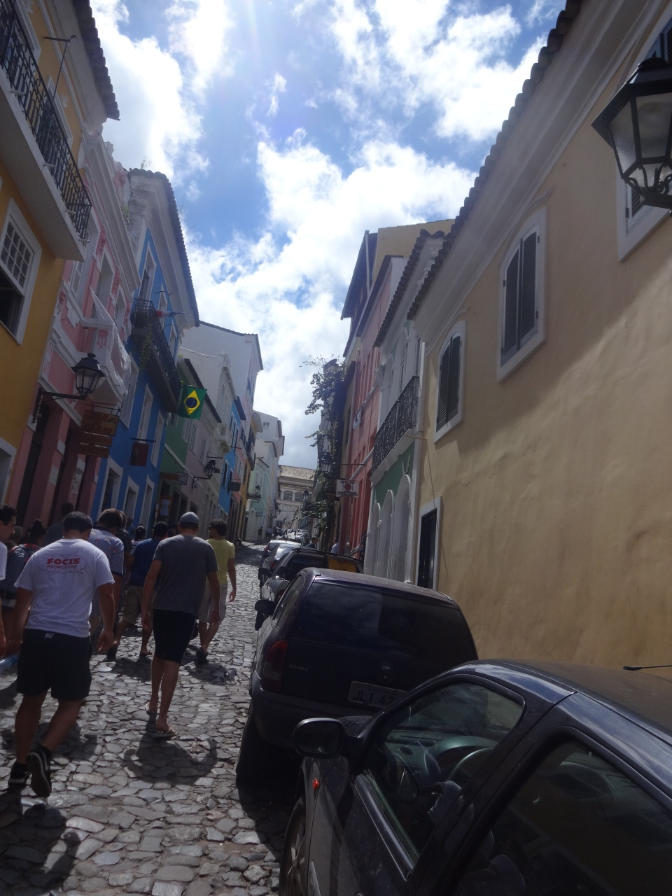 Scaling the steep, stone-strewn streets of Pelourinho, the historical heart of Salvador