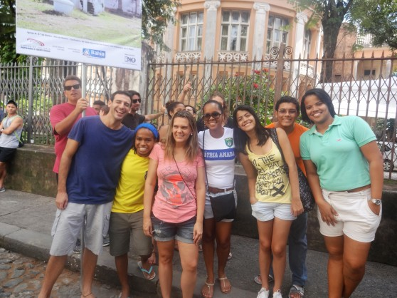 CIEE staff and student monitors! (From left: Jacob,  Nataniel, Flavia, Luize, Rebeca, Renaldo, Mariel)