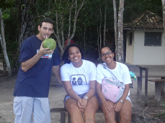 Jacob, director of CIEE in Bahia, Mariel, an awesome student monitor, and Luize, CIEE staff and the most amazing person ever!