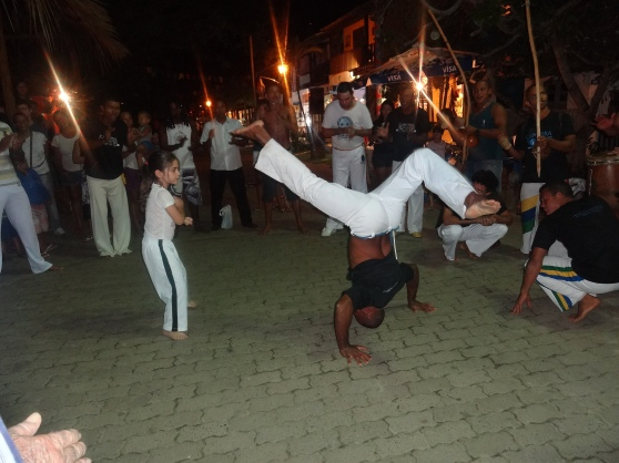 The town was so children-friendly.  We ran into a capoeira group that included children!