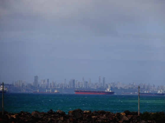 Salvador's skyline, viewed from Itaparica