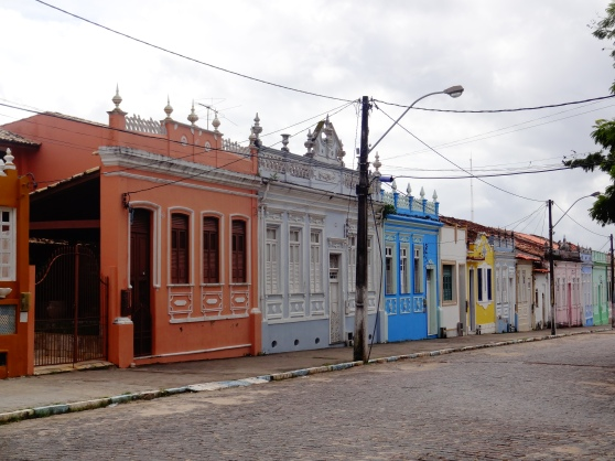 The historic town of Itaparica, with buildings dating back to the 17th and 18th centuries.