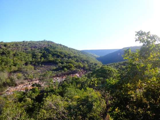 Hiking to Riberão do Meio, a natural rockslide and pool