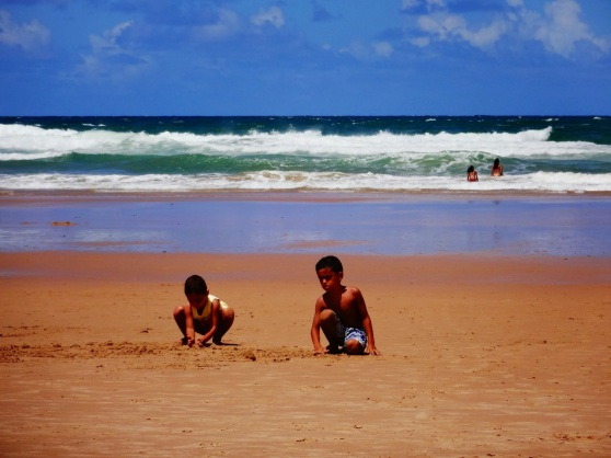 Cute little boys.  There were a lot of families at this beach.
